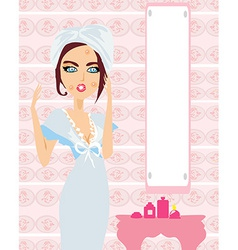 pretty girl with pimples vector image