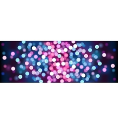 Purple festive lights vector