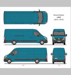 Renault master cargo delivery van l4h2 2014-2019 vector