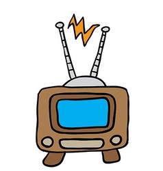 retro tv 1 vector image
