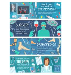 Rheumatology therapy and orthopedics surgery vector