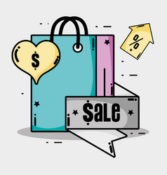 sale label percent offer price vector image