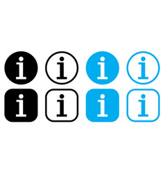 set info icon point symbol vector image