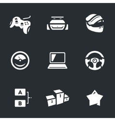 Set of Racing Game vector image