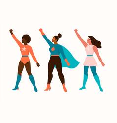 superheroes women characters wonder female hero vector image