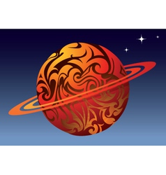 tattoo planet vector image