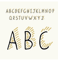 Thin alphabet shadow vector