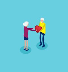 Together in joy holding emotions for togetherness vector