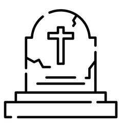 Tombstone line vector