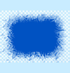Transparent blue frost window vector