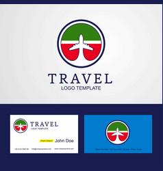 Travel tatarstan creative circle flag logo and vector