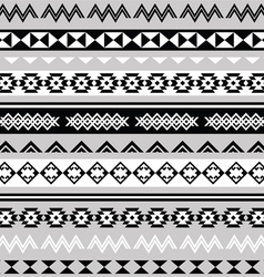 Tribal ethinc ztec seamless pattern vector image