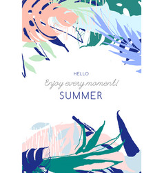 tropical floral summer party poster vector image