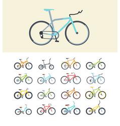 types modern bikes flat vector image