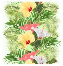 vertical border seamless background tropical vector image
