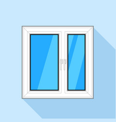 White plastic window with glass icon flat style vector