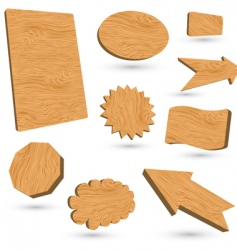 wood labels vector image