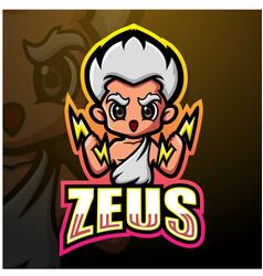 Zeus mascot esport logo design vector
