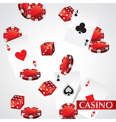 Cards Chips Casino Poker vector image