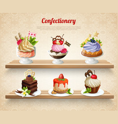 confectionery colorful vector image vector image
