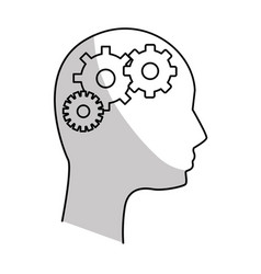 Figure human man and gear process vector