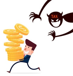 haunted by taxes vector image vector image
