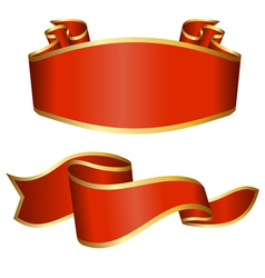 Red ribbon collection vector image