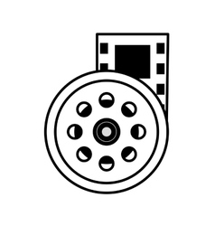 reel film movie wheel icon outline vector image vector image