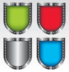 Shields set icon vector image vector image