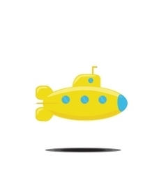 Simple icon of yellow vector image