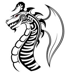 Dragon tribal tattoo vector image