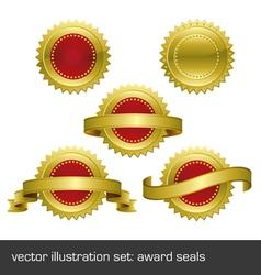 medallions scrolls ribbons vector image