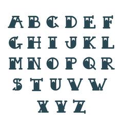 old school tattoo alphabet letters tattoo vector image