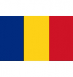 romania flag vector image vector image