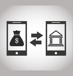 smartphones tranfer money bank online banking vector image