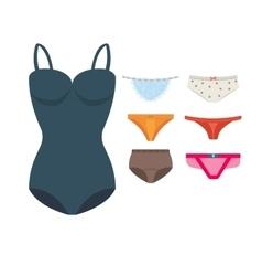 Underwear clothes set vector image vector image
