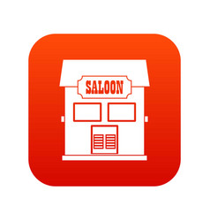 western saloon icon digital red vector image vector image