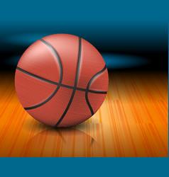 a basketball ball on a court vector image