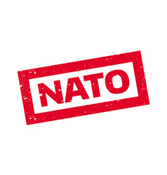 Nato rubber stamp vector