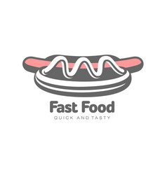 sausage hot dog with salad flat isolated vector image