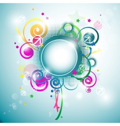 abstract frame background vector image vector image
