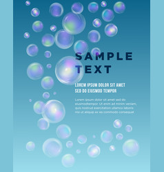 blue bubble theme with place for your text vector image vector image