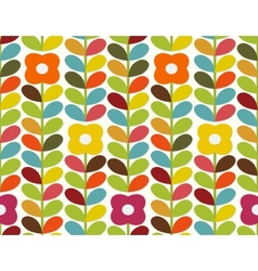 Bright flowers pattern vector image