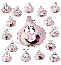 garlic cartoon vector image vector image