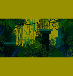 abandoned ancient jungle nature background vector image