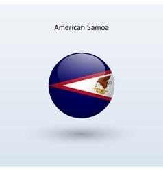 American Samoa round flag vector