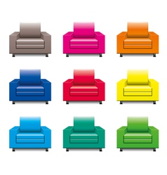 Armchair set vector