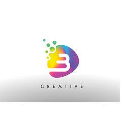 b colorful logo design shape purple abstract vector image