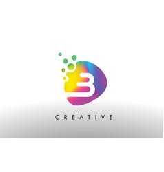 B colorful logo design shape purple abstract vector