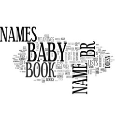 Baby names book review roundup text word cloud vector
